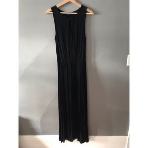 Ella Moss black long dress with slit